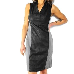 Muse Faux Leather Sheath dress Size 8